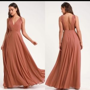 Lulu's Dance The Night Away Rusty Rose Dress XS